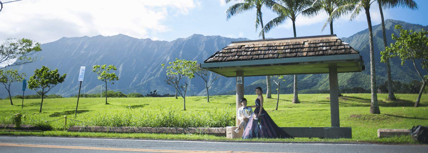 ハワイでの結婚式風景