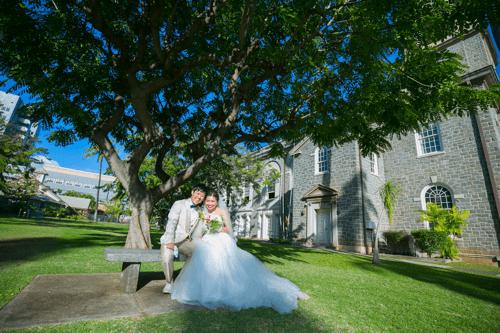 ハワイでの結婚式の風景1つ目